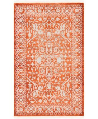 Norston Nor1 Terracotta 4' x 6' Area Rug