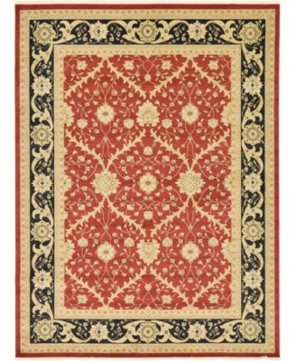 Orwyn Orw4 Red 8' x 8' Round Area Rug