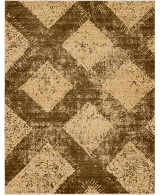 Thule Thu4 Brown 8' x 10' Area Rug