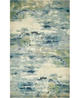 Crisanta Crs7 Light Blue 4' x 6' Area Rug