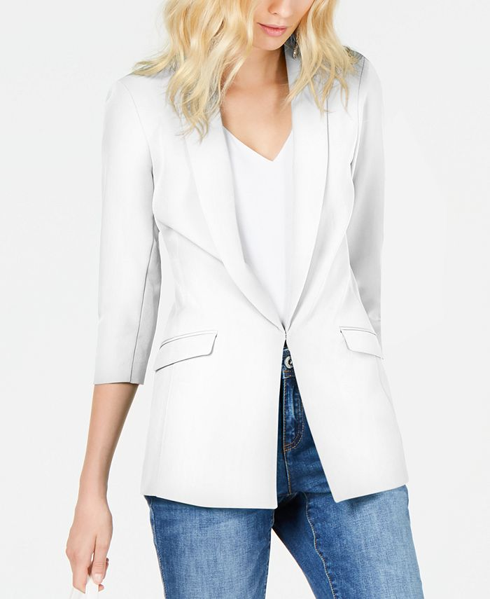 INC International Concepts - Petite Ruched-Sleeve Blazer
