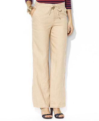 Lauren Ralph Lauren Pants Linen Drawstring Pants