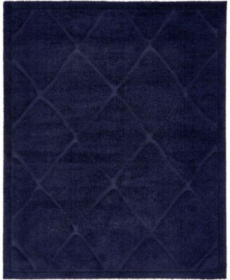 Filigree Shag Fil1 Navy Blue 5' x 8' Area Rug