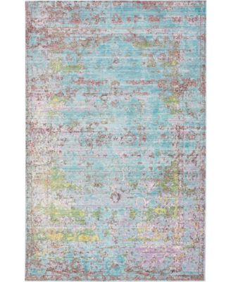 Malin Mal1 Blue 5' x 8' Area Rug