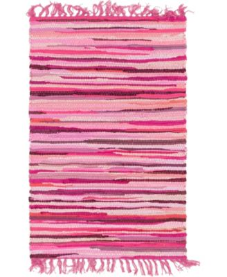 Jari Striped Jar1 Pink 5' x 8' Area Rug