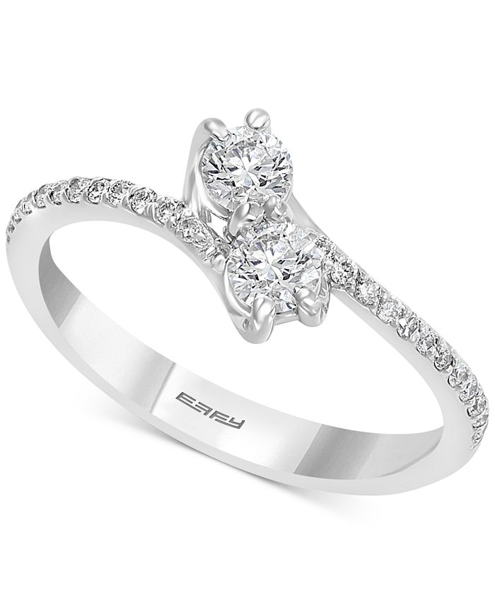 EFFY Collection - Diamond By-Pass Ring (1/2 ct. t.w.) in 14k White Gold