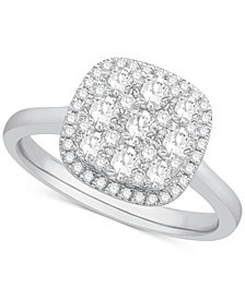 Diamond Cluster Halo Ring (1 ct. t.w.) in 14k White Gold