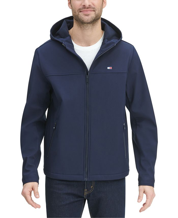 Tommy Hilfiger - Men's Logo Graphic Hooded Soft-Shell Jacket