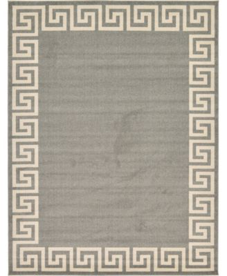 Anzu Anz2 Gray 8' x 8' Square Area Rug