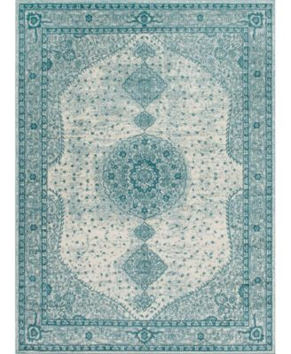 Mobley Mob1 Turquoise 2' x 13' Runner Area Rug
