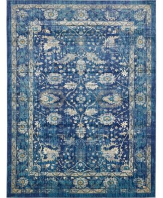 Masha Mas3 Navy Blue 5' x 8' Area Rug