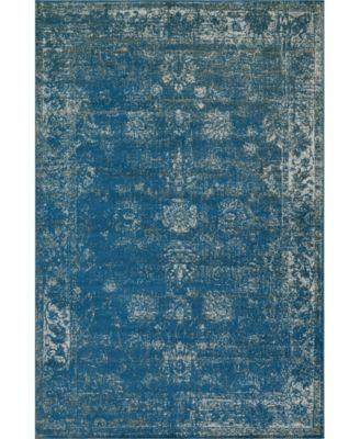 Basha Bas1 Blue 9' x 12' Area Rug