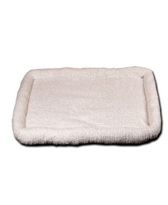 "Ultra Soft Sherpa Bed 23""x36"", Crate Cushion"