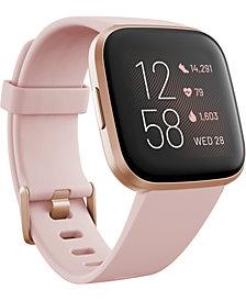 Fitbit Versa 2 Rose Elastomer Strap Touchscreen Smart Watch 39mm