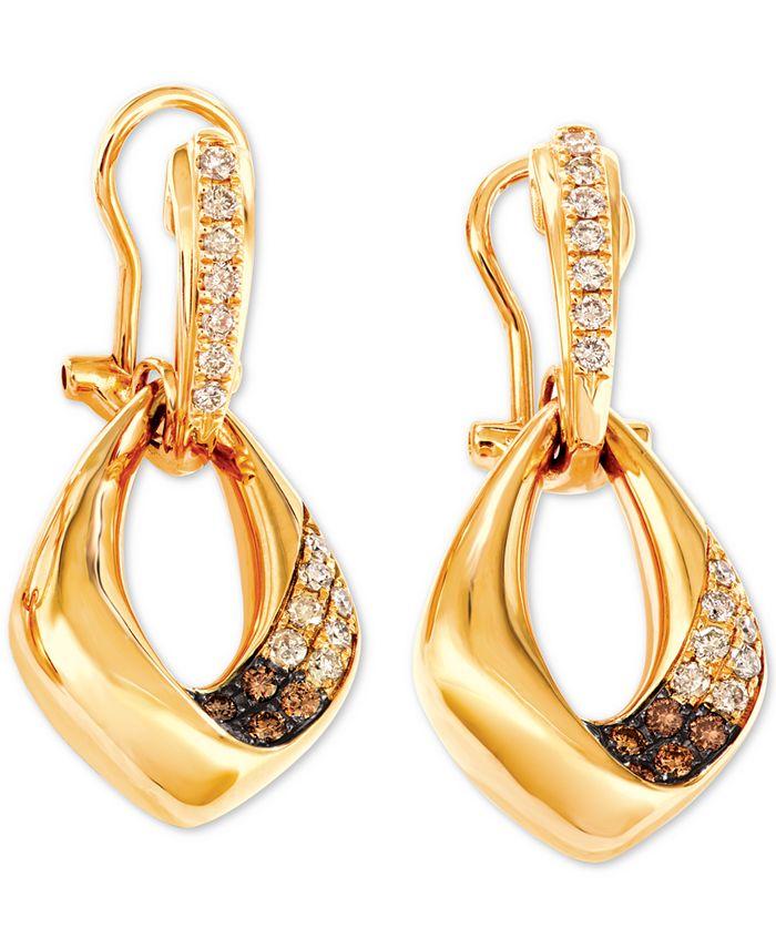 Le Vian - Diamond Drop Earrings (5/8 ct. t.w.) in 14k Gold