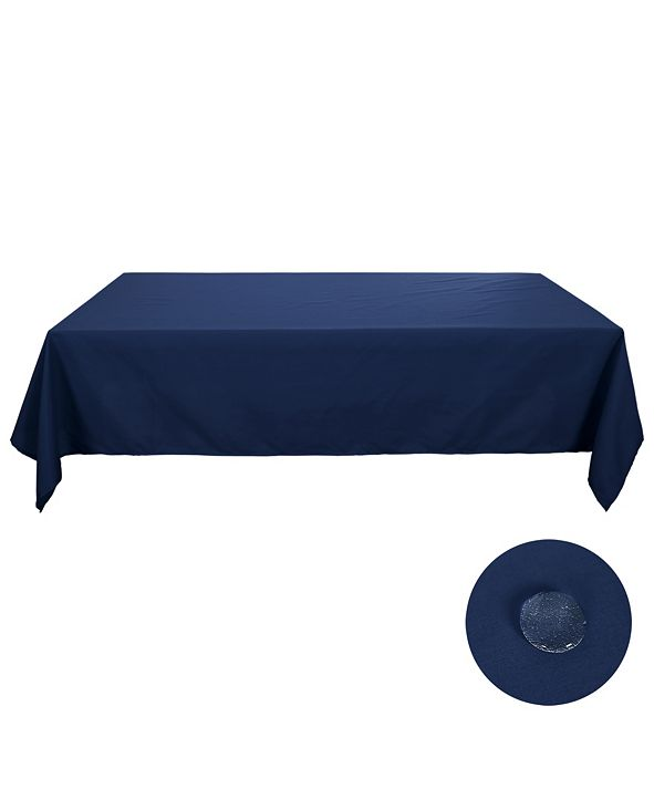 "DECONOVO Square Spillproof Wrinkle Resistant Tablecloth, 54"" W x 54"" L"