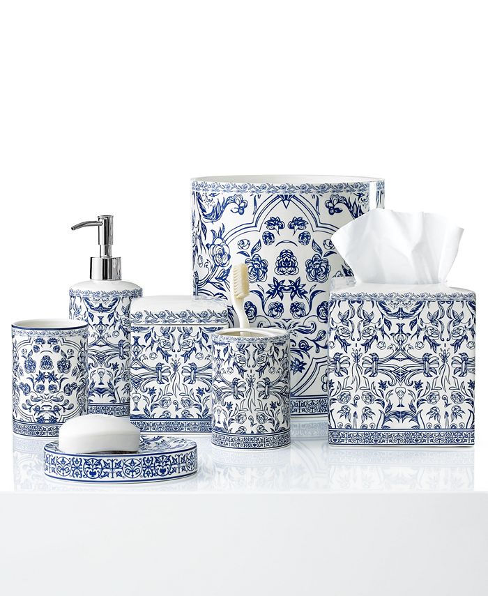 Cassadecor Damask Bath Accessory Collection Reviews Bathroom Accessories Bed Macy S