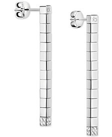 Calvin Klein Tune PVD Stainless Steel Swarovski Crystal Drop Earrings