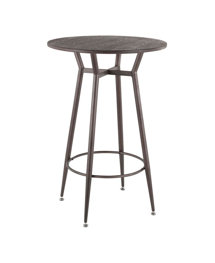 Lumisource - Clara Round Bar Table, Quick Ship