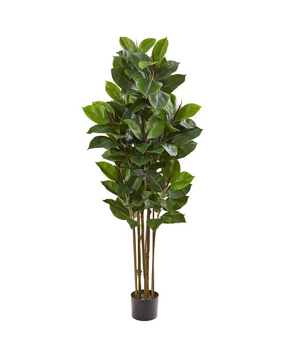 """Nearly Natural 58"""" Rubber Leaf Artificial Tree"""