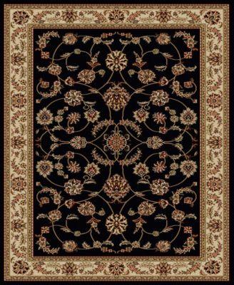 "CLOSEOUT! 1596/1311/BLACK Pesaro Black 5'5"" x 7'7"" Area Rug"