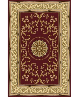 "CLOSEOUT! 1419/1333/BURGUNDY Navelli Red 7'9"" x 11'6"" Area Rug"