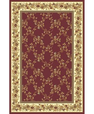"CLOSEOUT! 1427/1730/BURGUNDY Navelli Red 3'3"" x 5'4"" Area Rug"