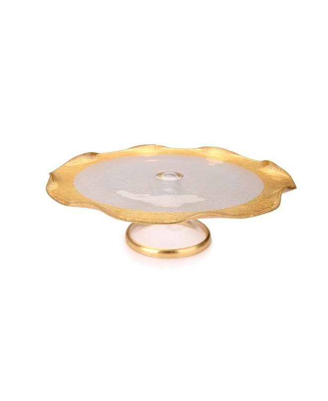 """Classic Touch 8"""" Wavy Cake Stand"""