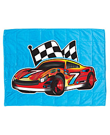 Bell + Howell 7 Lb. Quilted Plush Pleasure Pedic Race Car Design Weighted Blanket