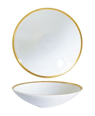 Golden Edge Soup/Pasta Bowls - Set of 2