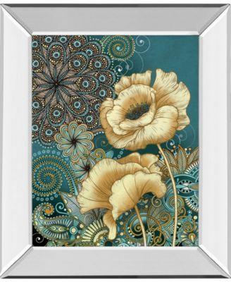 "Inspired Blooms 2 by Conrad Knutsen Mirror Framed Print Wall Art - 22"" x 26"""
