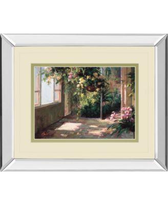 """Atriums First Light Il by Hali Mirror Framed Print Wall Art - 34"""" x 40"""""""