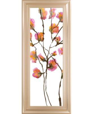 """Inky Blossoms I by Deborah Velasquez Framed Print Wall Art - 18"""" x 42"""""""