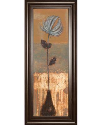 "Solitary Flower Il by Norman Wyatt Framed Print Wall Art - 18"" x 42"""