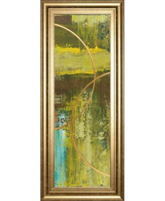 """Aller Chartreuse by Patrick St. Germain Framed Print Wall Art - 18"""" x 42"""""""
