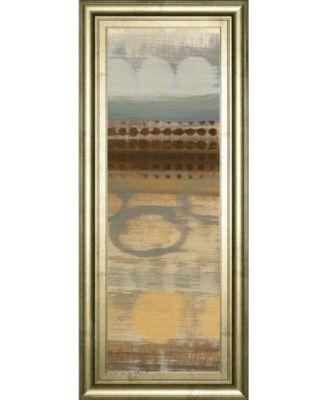 """Movement Panel Il by Jeni Lee Framed Print Wall Art - 18"""" x 42"""""""
