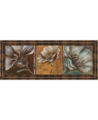 "The Three Poppies I by Patricia Pinto Framed Print Wall Art - 18"" x 42"""