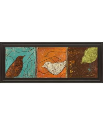 "Lovely Birds I by Patricia Pinto Framed Print Wall Art - 18"" x 42"""