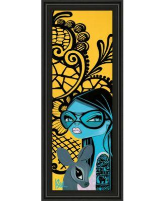"""Ink Chiffon Il by Bev Hogue Framed Print Wall Art - 18"""" x 42"""""""