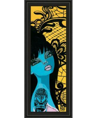 """Ink Chiffon I by Bev Hogue Framed Print Wall Art - 18"""" x 42"""""""