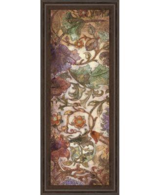 "Floral Sonata Il by O'Flannery Framed Print Wall Art - 18"" x 42"""