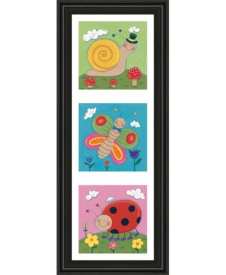 """Garden Party I by Sophie Harding Framed Print Wall Art - 18"""" x 42"""""""