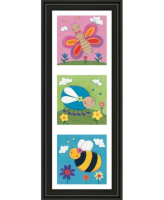 """Garden Party Il by Sophie Harding Framed Print Wall Art - 18"""" x 42"""""""