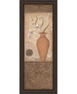 """Flower Pot Il Framed Print Wall Art - 18"""" x 42"""""""