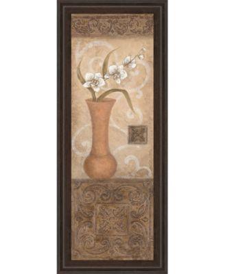 "Flower Pot I Framed Print Wall Art - 18"" x 42"""
