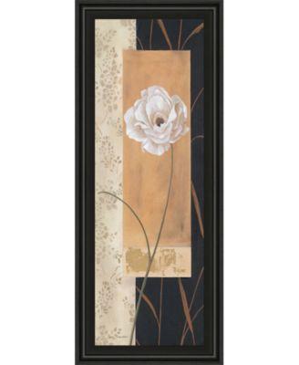 "Black and Gold Il by Carol Robinson Framed Print Wall Art - 18"" x 42"""