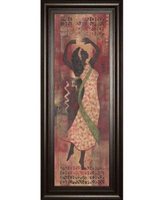 "Graceful Reflection I by Maria Donovan Framed Print Wall Art - 18"" x 42"""