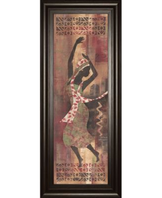 """Graceful Reflection Il by Maria Donovan Framed Print Wall Art - 18"""" x 42"""""""