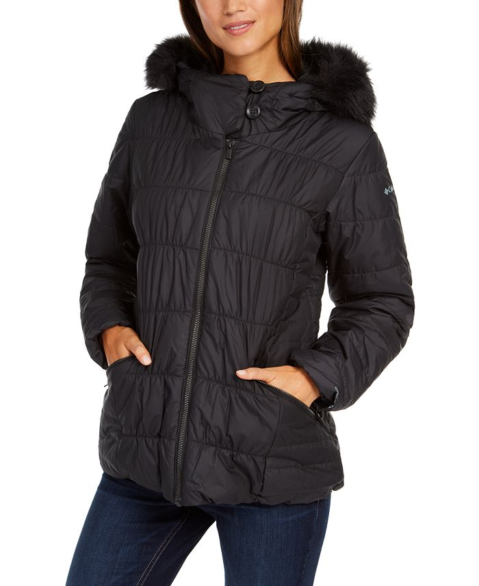 Columbia - Sparks Lake™ Hooded Faux-Fur-Trim Coat