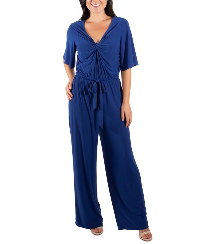 NY Collection - Flutter-Sleeve Jumpsuit